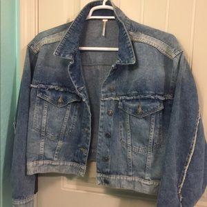 Free People Bedford Cropped denim jacket